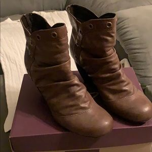 Ankle Boots Size 9 Brown